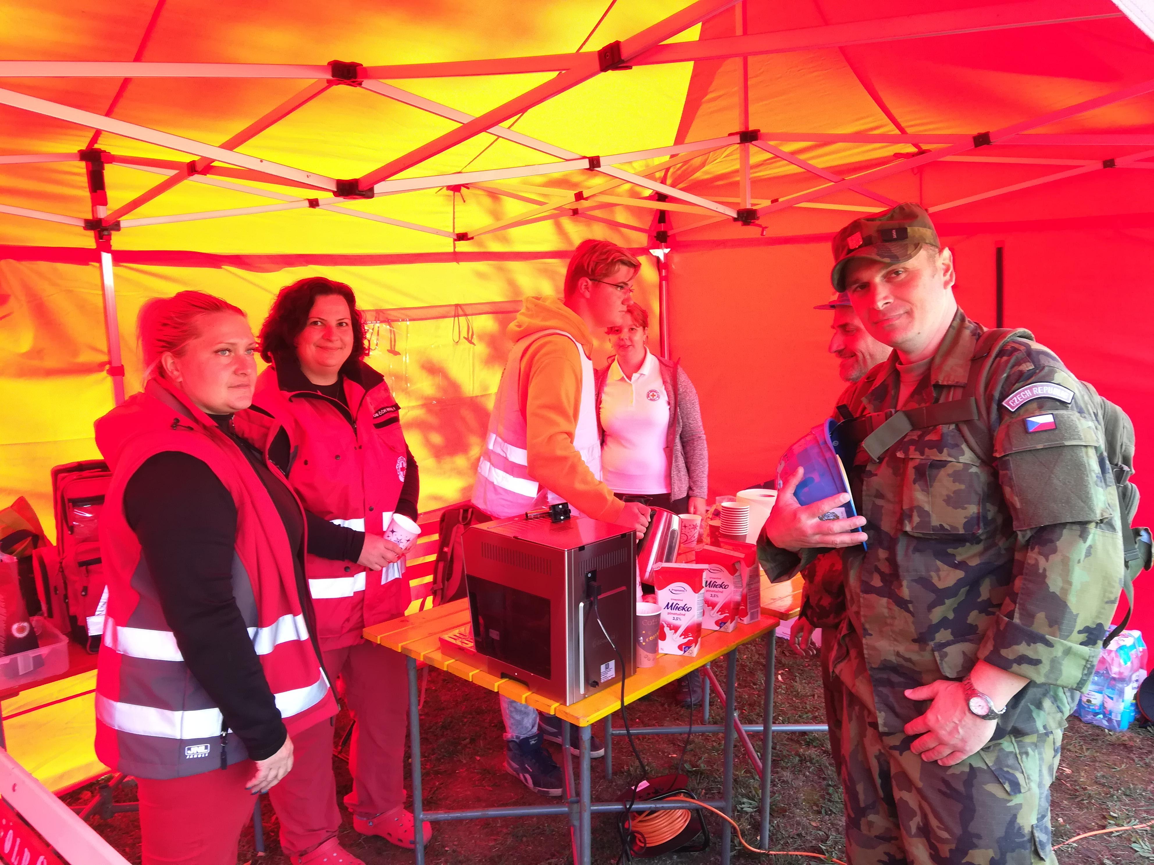 Český červený kříž se postaral o občerstvení