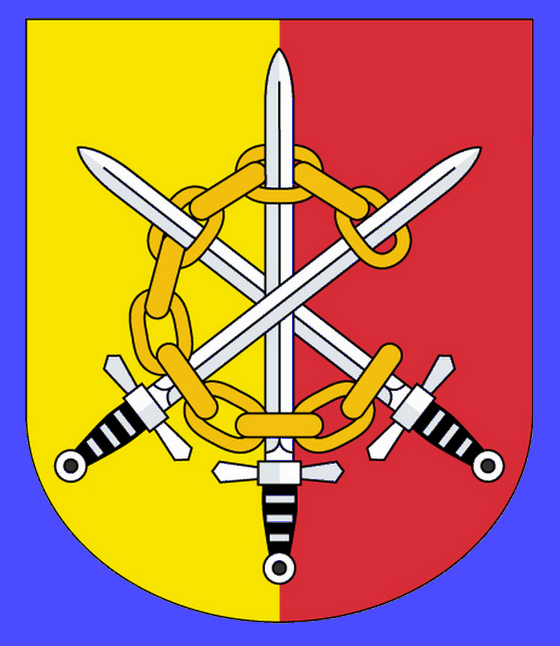 Rukávový znak 111. praporu - barevné provedení